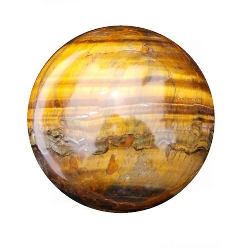 Tiger Eye Fortune Telling Crystal Ball Gemstone Sphere for Meditation 54mm 230g (TE17)